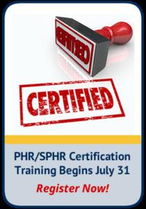 PHR SPHR Training Registration CTA
