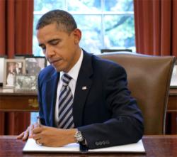 President Obama Signing Order