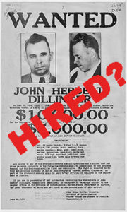 dillinger hired poster
