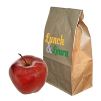 Lunch and Learn lunchbag and apple