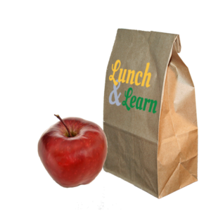 Lunch Sack and Apple for Lunch and Learn Workshops