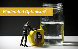 moderated optimism glass half full image