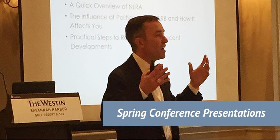 2018 Spring Conference Presentations Banner Image