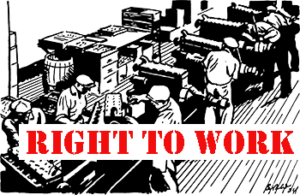 Right to work line drawing