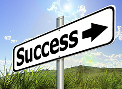 Success sign art