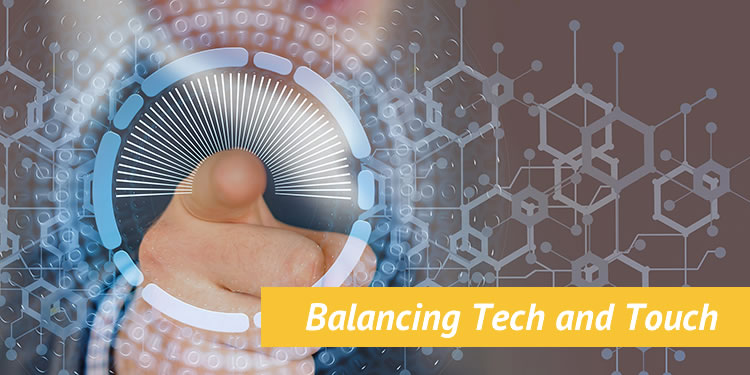 balancing tech and touch image