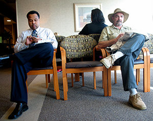 Sitting in the waiting room