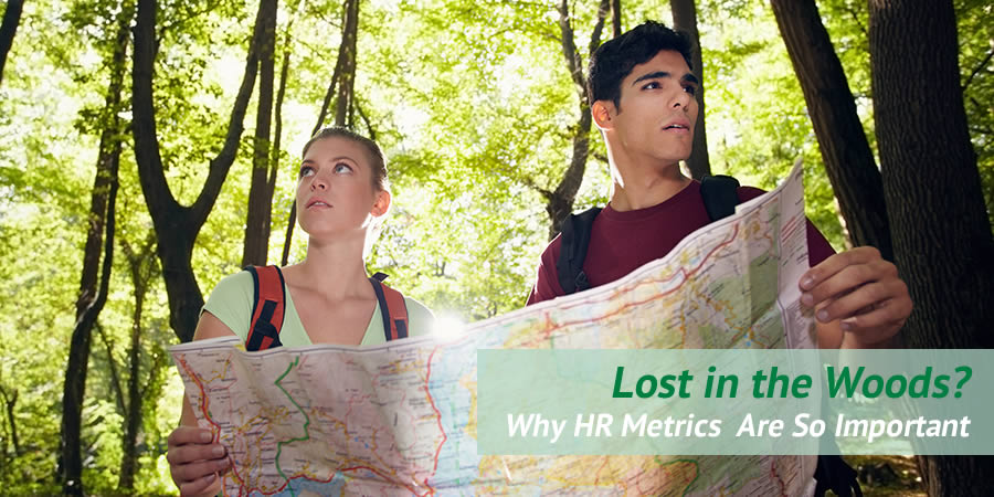 Couple lost in woods image - masthead for HR analytics post