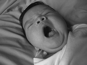 yawning baby photo